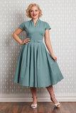 Arina-Mint Swing Dress Dusty Mint