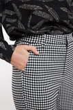 Joele Gingham Slim Cropped Trousers White