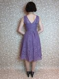 Lace Sweetheart Dress Mauve
