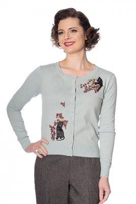 Black Cat Bloom Embroidered Cardigan