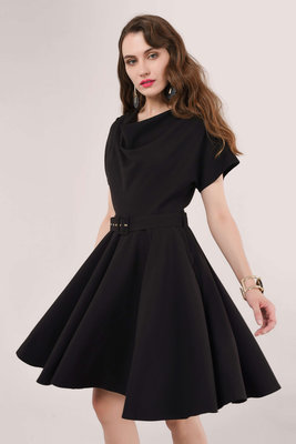 Closet Cowl Kimono Dress Black