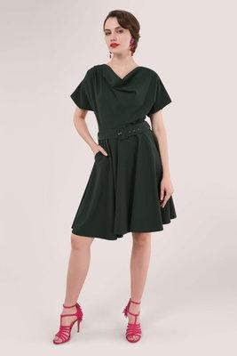 Closet Cowl Kimono Dress Forest Green