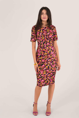 Closet Pleat Detail Wrap Dress