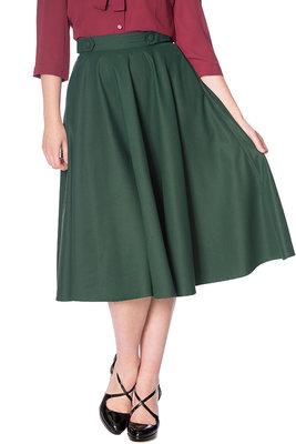 Didi Swing Skirt Forest Green