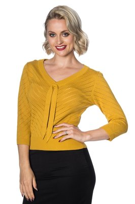 Charlie Chevron Top Mustard