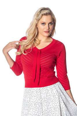 Charlie Chevron Top Red
