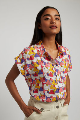 Louche Abinaya Geocats Shirt