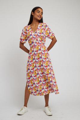 Louche Chantal Geocats Midi Dress