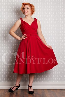 Marissa-Rose Sleeveless Dress Red