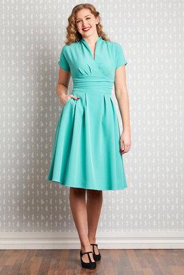 Sarita-Tiffany A line Dress Turquoise