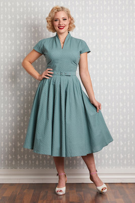 Arina-Mint Swing Dress Dusty Mint