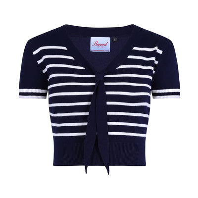 Sailor Stripe Tie Top Navy