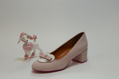 Apple Pink Polka Suède & White