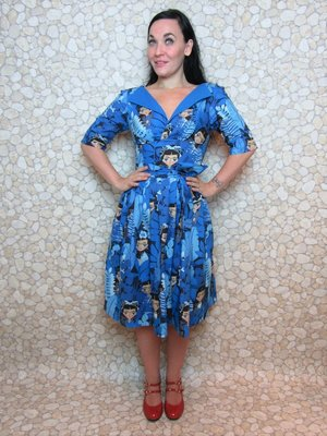 Monkees Blue Swing Dress