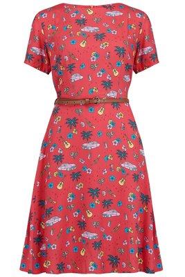 Ohara Havana Fit & Flare Dress