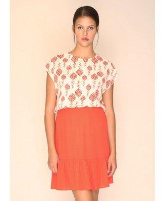 Rose Skirt Coral