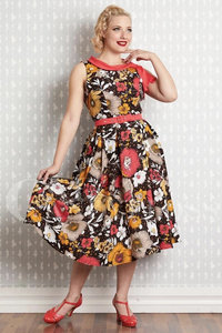 Eliana Coral Floral Swingdress