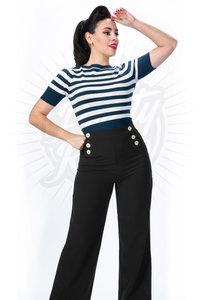 Retro Sailor Slacks Black
