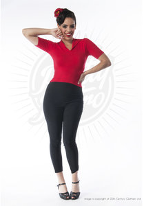 Pretty Retro 50s Capri Pants Black