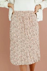 Mikarose Rosewater Floral Pleated Skirt