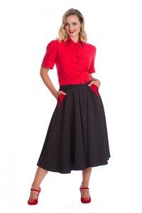 Good Vs Bad Voice Swing Skirt Black