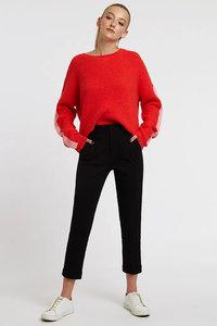 Jaylo Slim Cropped Trousers Black