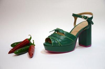 Cristofoli Queen Sandal Green