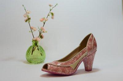 Cristofoli Amanda Peeptoe Pink Floral