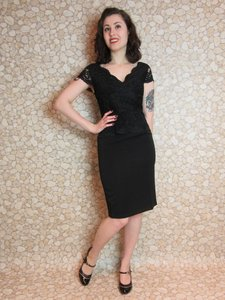 Retro Feestjurk 2-in-1 Pencil Dress Black
