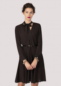 Closet Wrap Dress With Tie Neck